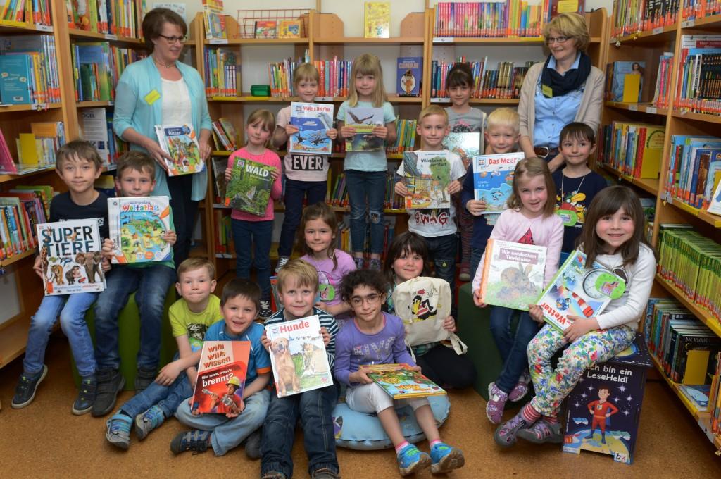 Rhader Vorschulkinder wurden fit für ihre Bücherei gemacht